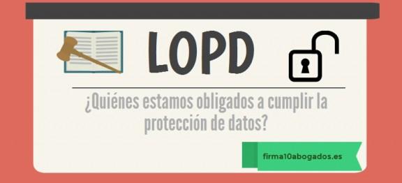 ¿Quiénes estamos obligados a cumplir la protección de datos?