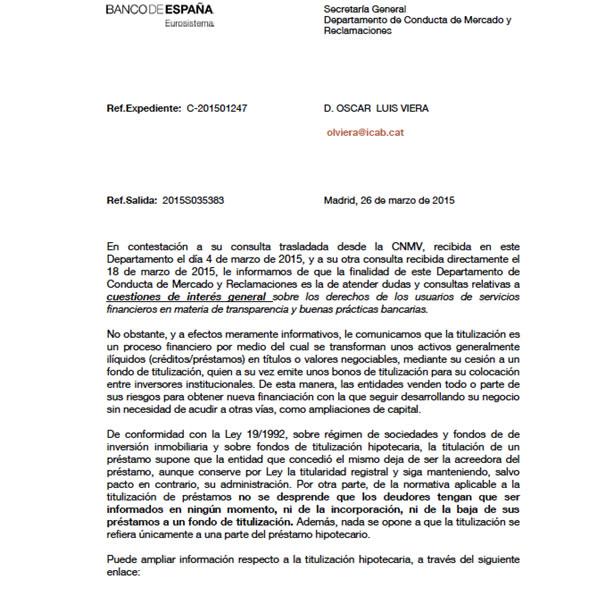 carta al letrado Oscar VIERA